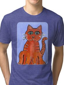 Friendly Cat Tri-blend T-Shirt