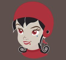 Roller Derby chick in RED Baby Tee