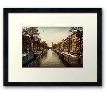 Amsterdam life Framed Print
