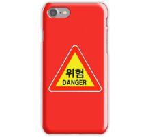 Danger Warning Sign, South Korea iPhone Case/Skin