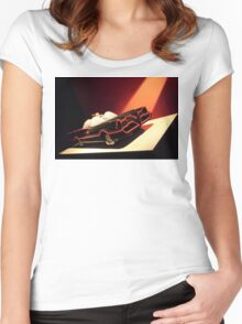 60s Lego Batmobile Women's Fitted Scoop T-Shirt