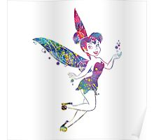 Fairies Tinker Bell Watercolor Poster