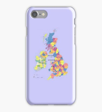 Map of the United Kingdom iPhone Case iPhone Case/Skin