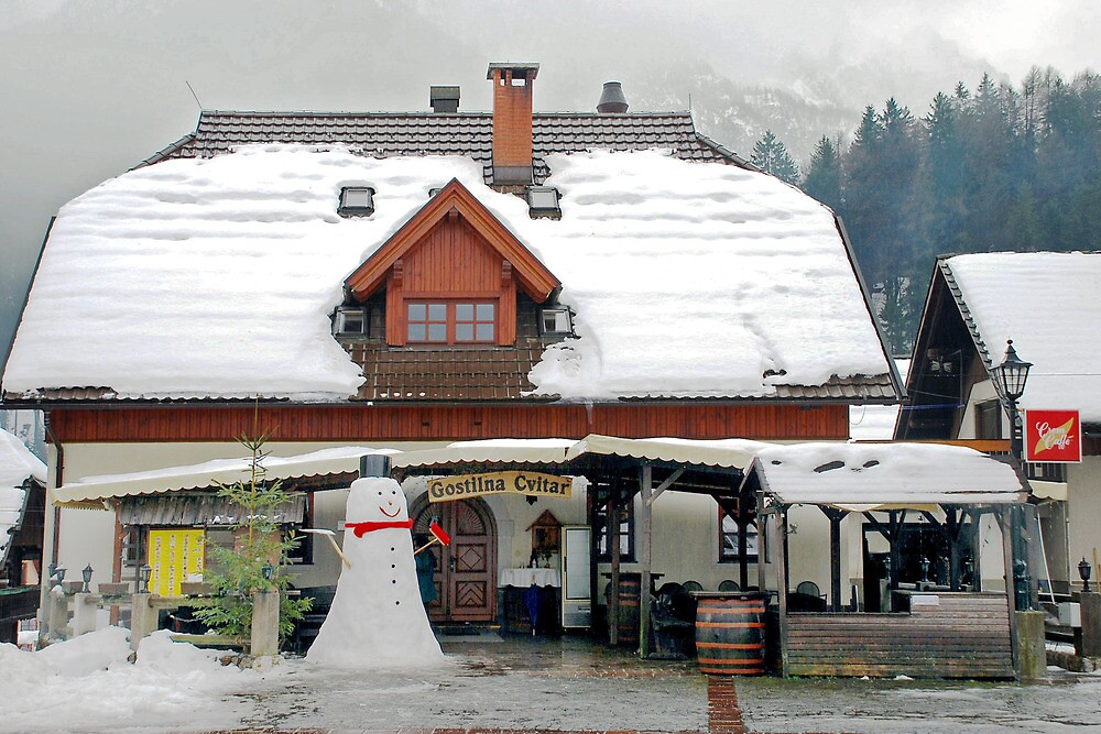 Snow(man) in Kranjska Gora - Slovenia by Arie Koene