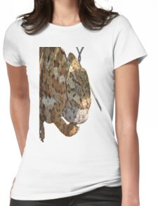 Chameleon Hanging On A Wire Fence Womens Fitted T-Shirt