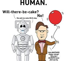 A Doctor Who/Cyberman themed Birthday Card by mjfouldes