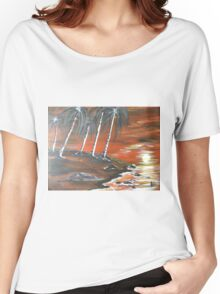 Coastline Sunset Women's Relaxed Fit T-Shirt