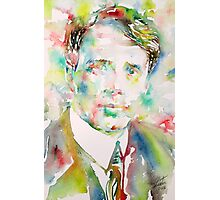 ROBERT FROST - watercolor portrait Photographic Print