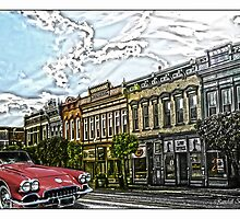 Super Cool Sixty Corvette Touring Town by Randy & Kay Branham
