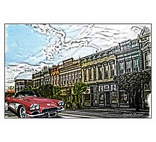 Super Cool Sixty Corvette Touring Town Photographic Print