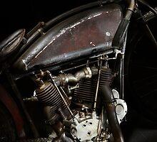 Excelsior Board Track Racer Engine by Frank Kletschkus