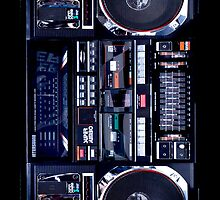 Old School Boombox iPhone Case by btphoto