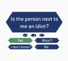 Is the person next to me an idiot? by Joe  McQuillan