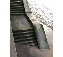 Steps and tide (London) Photographic Print
