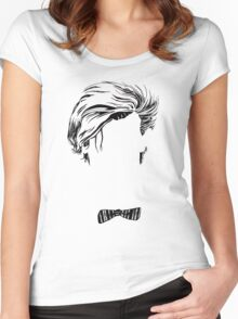Who's that Bowtie Women's Fitted Scoop T-Shirt