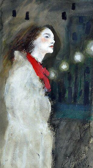 Famous white raincoat by lillo