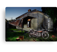 Unrestored 1924 Indian Chief and Australian farm house Canvas Print