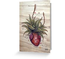 Aloe Glauca Heart Greeting Card