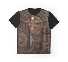 Steampunk Camouflage Graphic T-Shirt