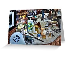 Barber Shop Tools Greeting Card