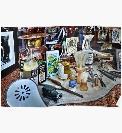 Barber Shop Tools Poster