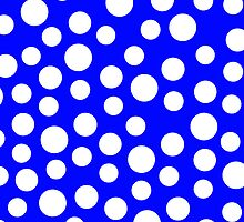 Polka dots Blue Iphone and Ipod Cases  by Clickcreations