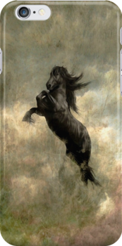 "I-phone and I-pod case ""Friesian Horse"" by scatharis"
