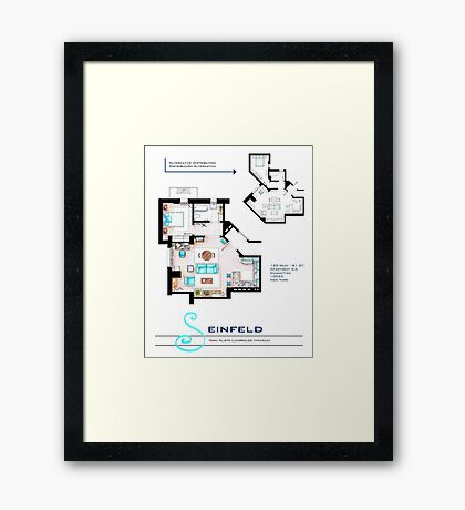 Seinfeld Apartment Framed Print