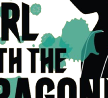 The Girl with the Dragonite Tattoo Sticker