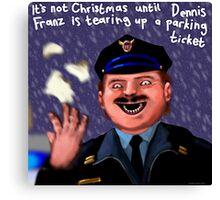 Dennis Frantz at Christmas Canvas Print