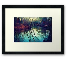 The Darkened Stream Framed Print