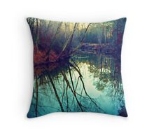 The Darkened Stream Throw Pillow