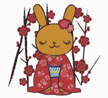 Kimono Bunny! Usahime the Rabbit Kids Tee