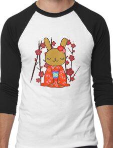 Kimono Bunny! Usahime the Rabbit Men's Baseball ¾ T-Shirt