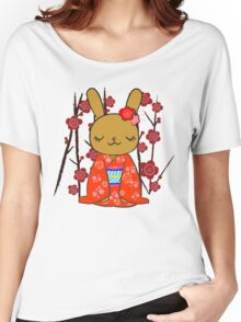 Kimono Bunny! Usahime the Rabbit Women's Relaxed Fit T-Shirt