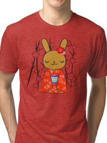 Kimono Bunny! Usahime the Rabbit Tri-blend T-Shirt