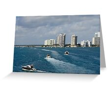 Miami: The Chase Greeting Card