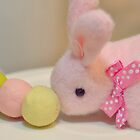 Bunny Collection #10 - a bunny and dango rice balls on a stick by Cyndy Ejanda