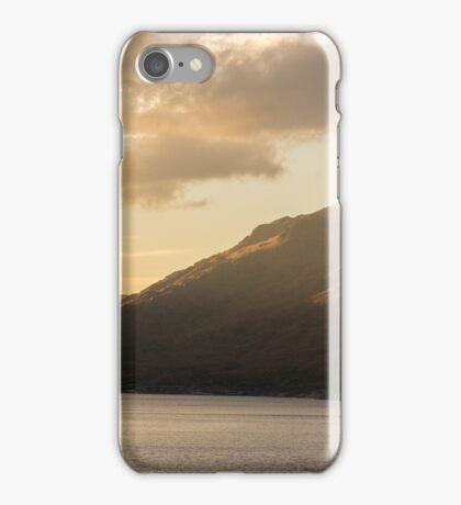 Last light Glen Cannich, Loch Cannich, Scotland iPhone Case/Skin