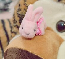 Bunny Collection #7 - a bunny and a tiger by Cyndiee Ejanda