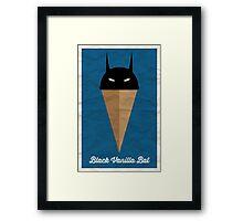 Black Vanilla Bat Framed Print