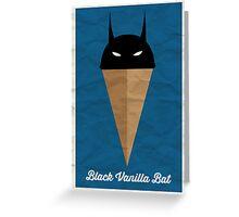 Black Vanilla Bat Greeting Card