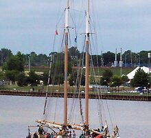 Appledore IV Heading Down the Saginaw River by Francis LaLonde