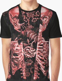 skeleton flowers Graphic T-Shirt