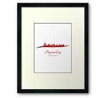 Panama City skyline in red Framed Print