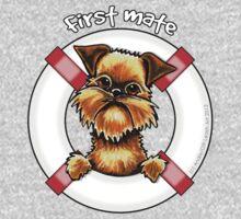 Brussels Griffon :: First Mate One Piece - Short Sleeve