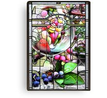 Stained Glass Template: Summer Wine Canvas Print