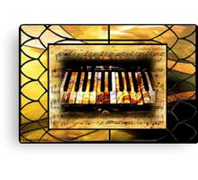 Stained Glass Template: Antique Ivories Canvas Print