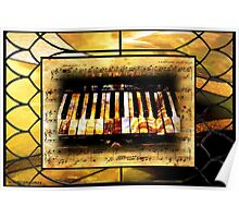 Stained Glass Template: Antique Ivories Poster