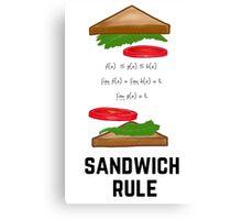 Sandwich Rule Canvas Print